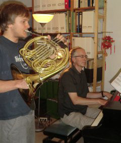 William Cuthbertson (Piano) accompanies Alban (French Horn)